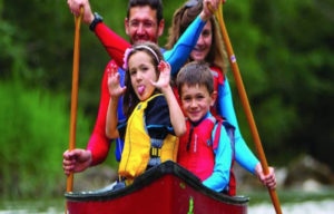 Family Fun Kayaking at Camp Roosevelt Firebird